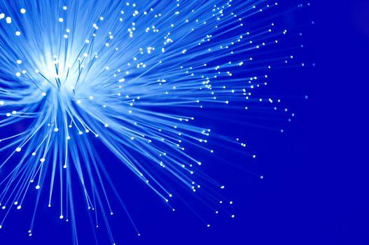 Electric blue fibre optics.