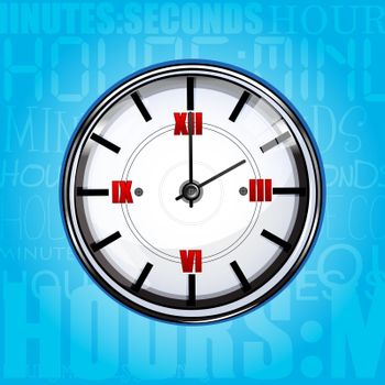 illustration of clock with texture background