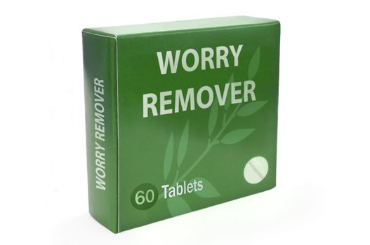 Cure for worry concept.