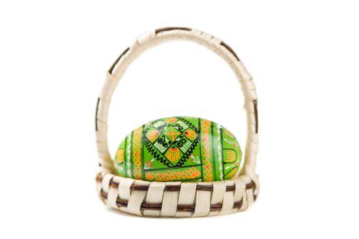 Easter egg in mini-basket