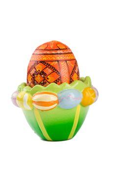 Easter egg in holder