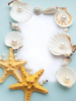 Pastel sea frame