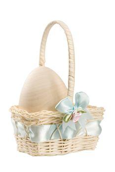 Pastel egg in Easter basket