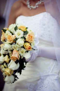 Cascade wedding bouquet