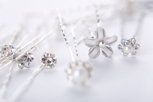 Silver wedding pins