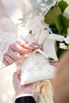 Detail of wedding ceremony