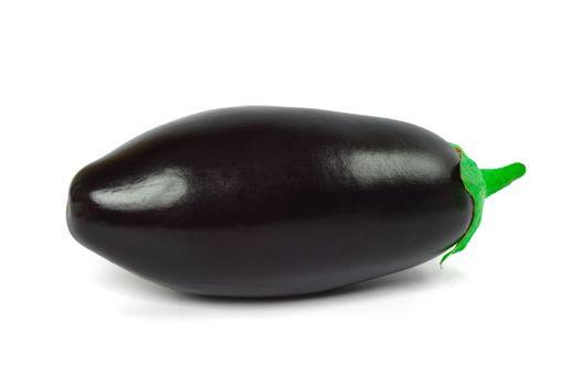 Raw eggplant,close up, isolated on white background