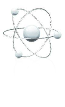 illustration of atom icon isolated on white background