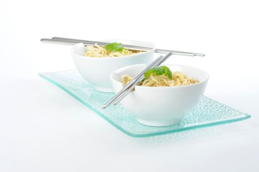 Oriental Noodles and Broth