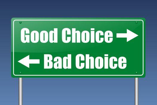 good choice - bad choice