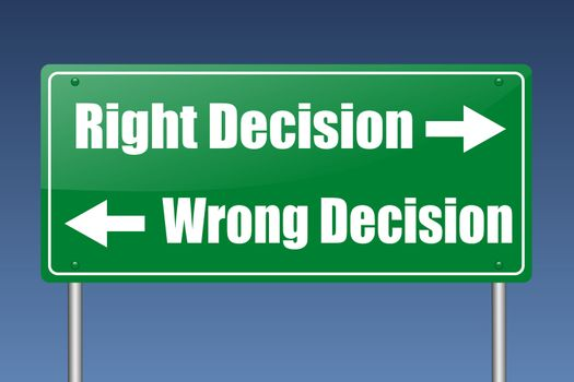 right decision - wrong decision