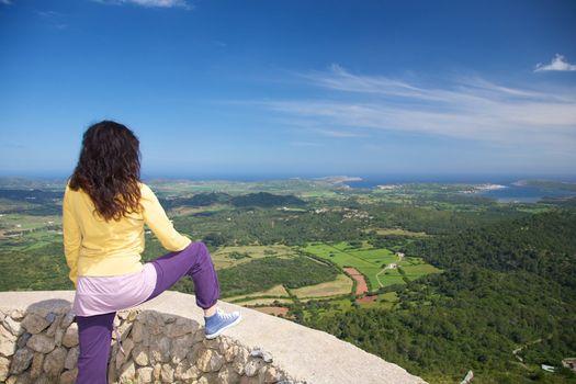 at the top of Menorca
