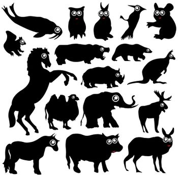 vector set of various animals