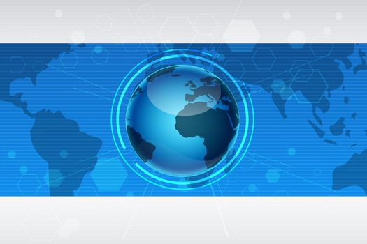 illustration of abstract global background