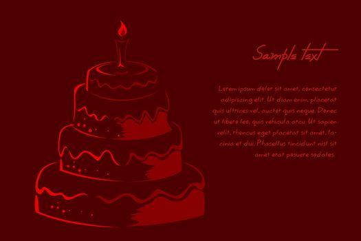 illustration of abstract  birthday card