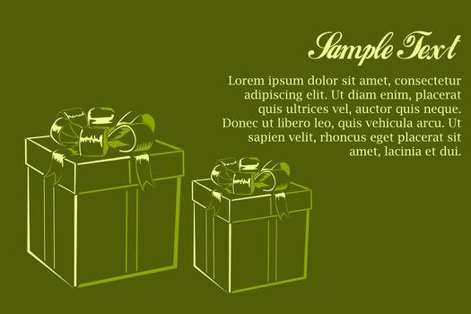 illustration of birthday card