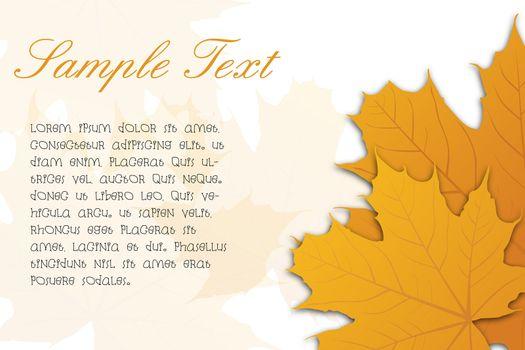 illustration of autumn card