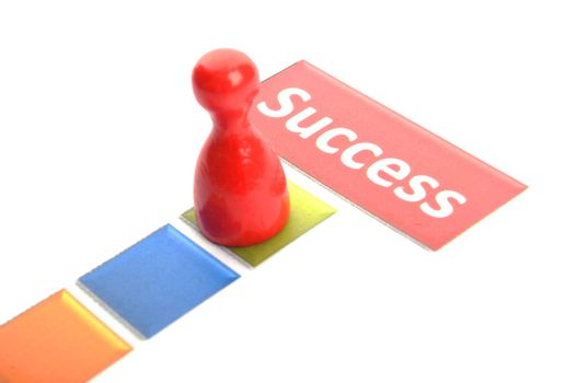 success win or winner business concept with pawn and word