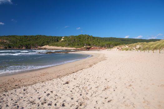beach with nobody at Menorca