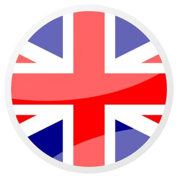 united kingdom round aqua button