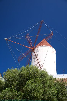 white mill at Menorca