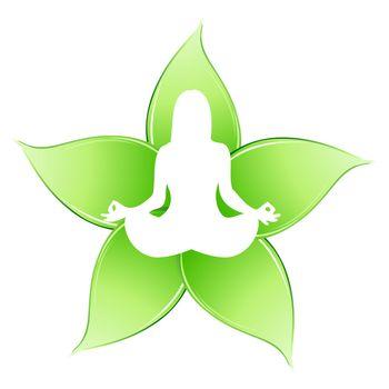 illustration of yoga  on white background