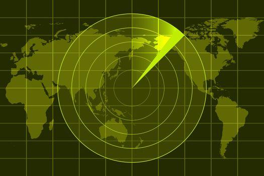 illustration of radar