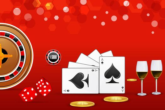 illustration of casino card on abstract background