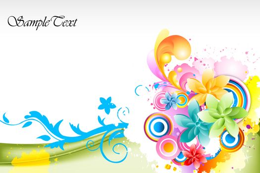 illustration of abstract colorful vector background