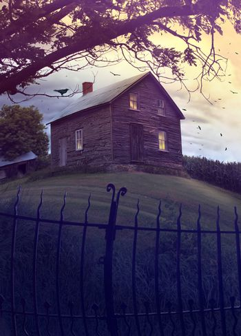 Abandoned haunted house on the hill