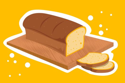 illustration of bread loaf on abstract background