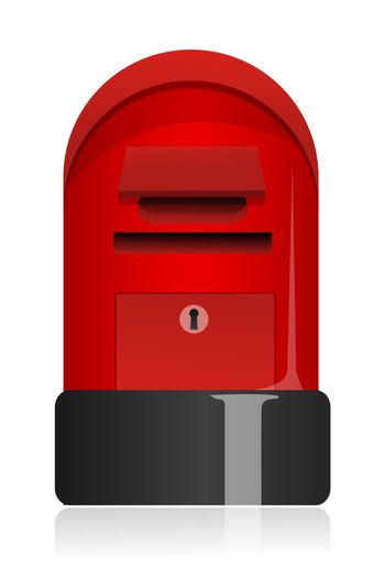 illustration of letter box on white background