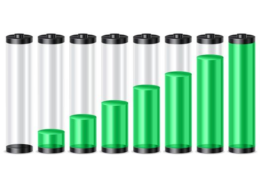 illustration of battery level on white background