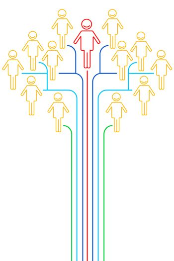 illustration of networking on white background