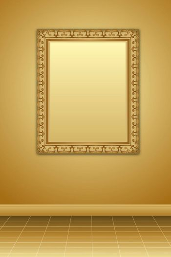 illustration of photo frame  on abstract background