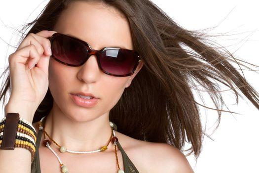 Sexy fashion woman wearing sunglasses