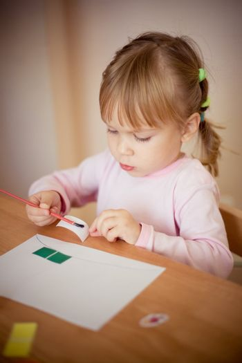 Child making an application