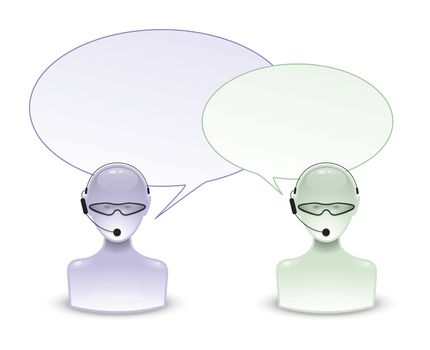 An image of two talking people icon