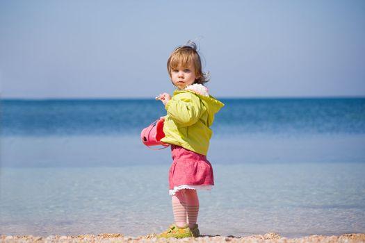 Child over sea
