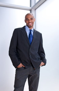Good-looking smiling businessman
