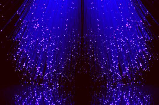 Fibre optical cascade.