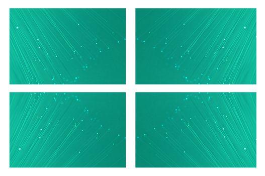 Fibre optic collage.