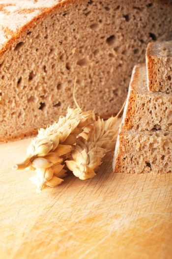 bread and grain or cereal showing food baker or bakery concept
