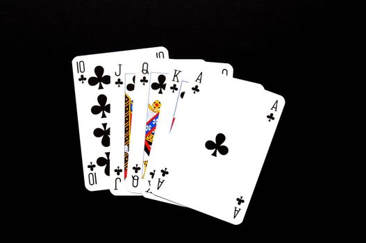 poker card game showing risk or gambling concept