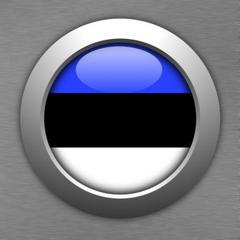 estonia button flag sign or badge for website