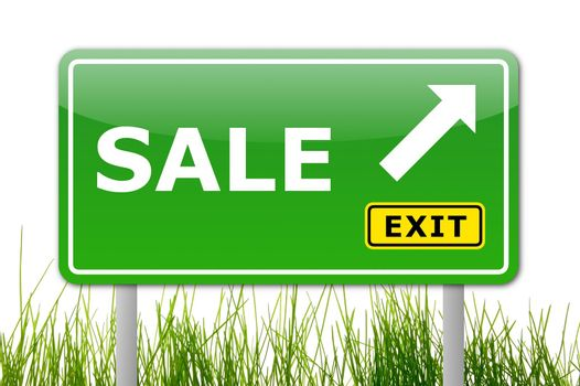 discount or sale concept with traffic sign illustration
