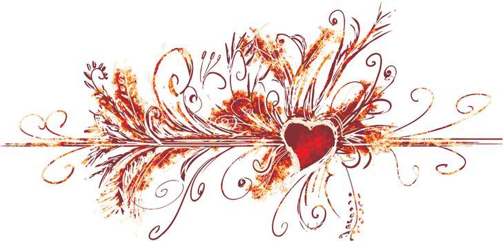 Big valentine flourish