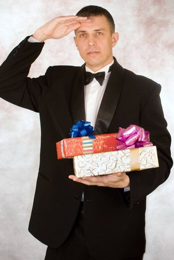 Celebration expectation causes pleasant emotions in the successful businessman
