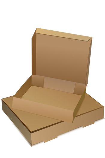 illustration of empty boxes on white background