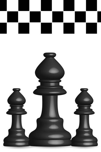 illustration of chess board on white background